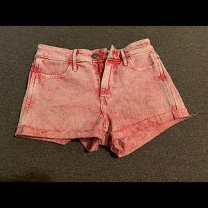 Hollister Red Jean Shorts